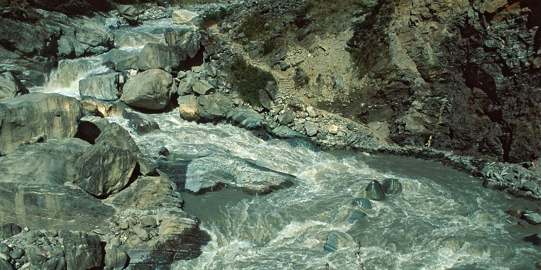 Panta rhei - alles ist im Fluss. Manchmal groß und mächtig ...